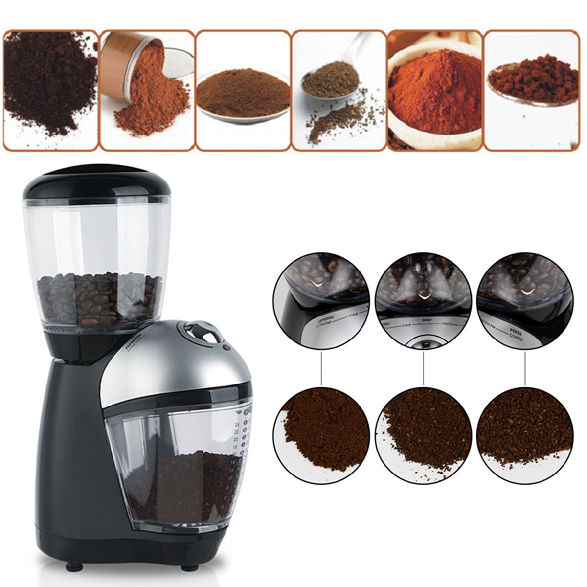 Electric Automatic Coffee Grinder Bean Mill Grinder Bean Maker Machine