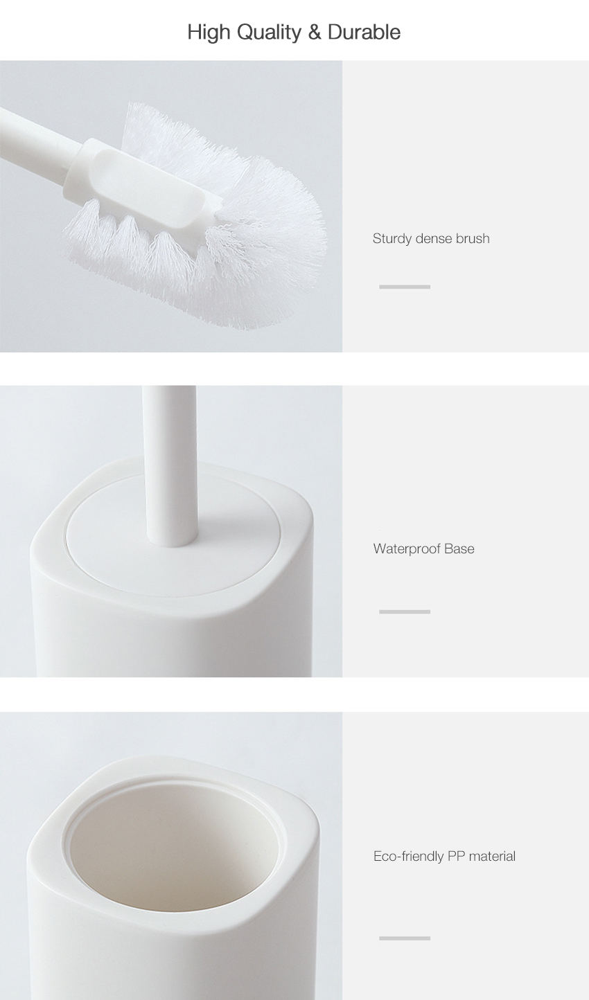 Honana Home Bathroom Durable Simple Design Toilet Brush Cleaning Brush with Waterproof Base
