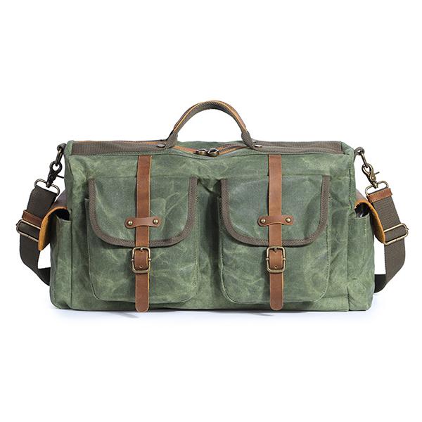 Men Wax Canvas New Style Large Capacity Waterproof Bag