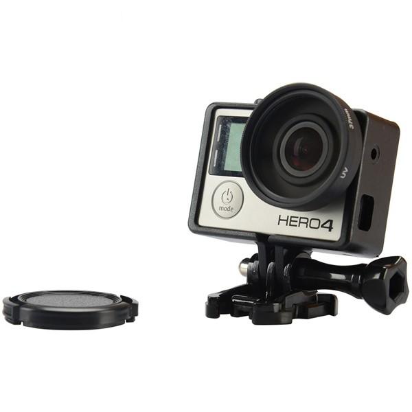 37mm Gopro UV Lens Filter with Adapter Lens Cap kit for Gopro Hero 3 3 Plus