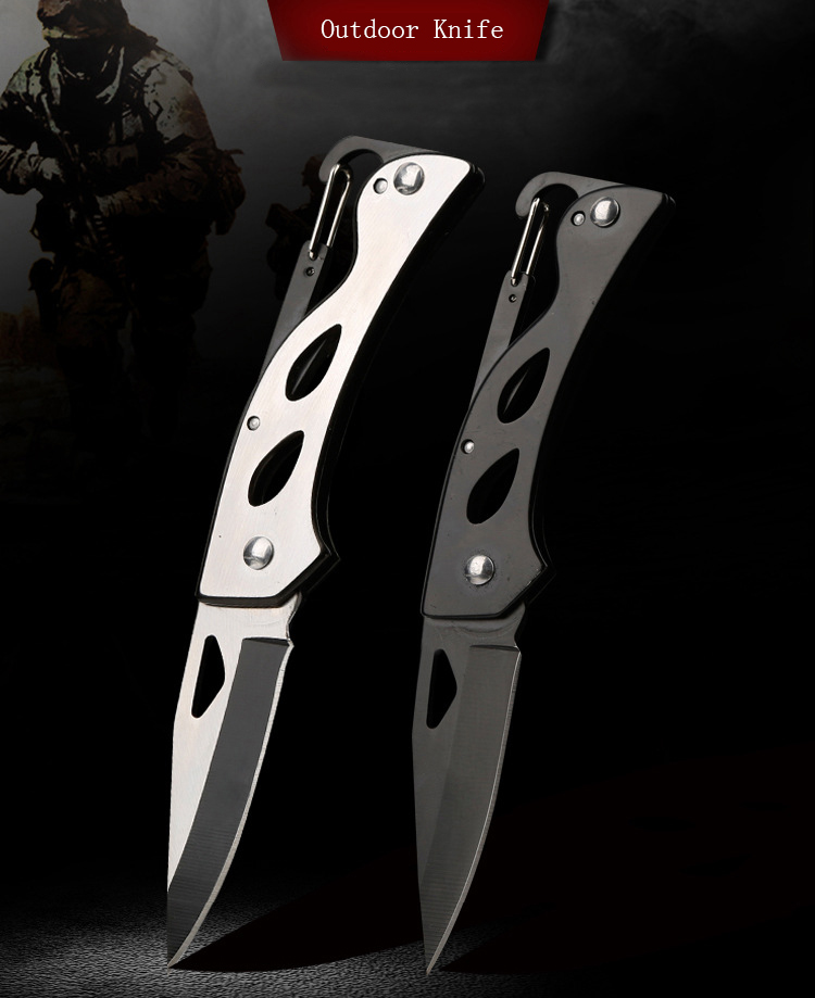 LAOTIE 85mm Stainless Steel Multifunction Folding Knife Keychain Outdoor Survival EDC Knife Fishing Tool