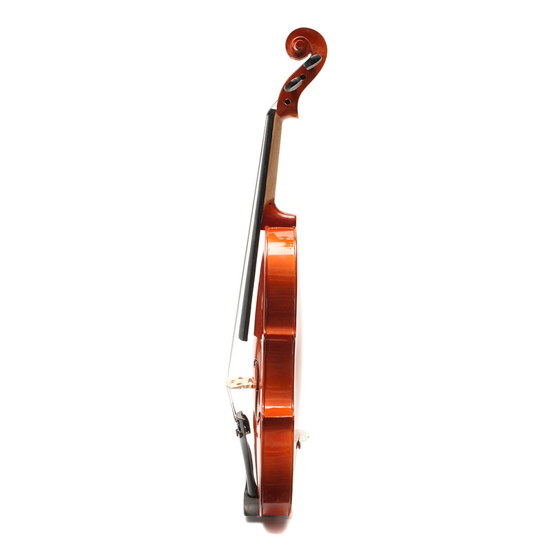 4/4 Full Size Maple Real Wood Natural Color Violin with Bow/Carry Case for Violin Beginner