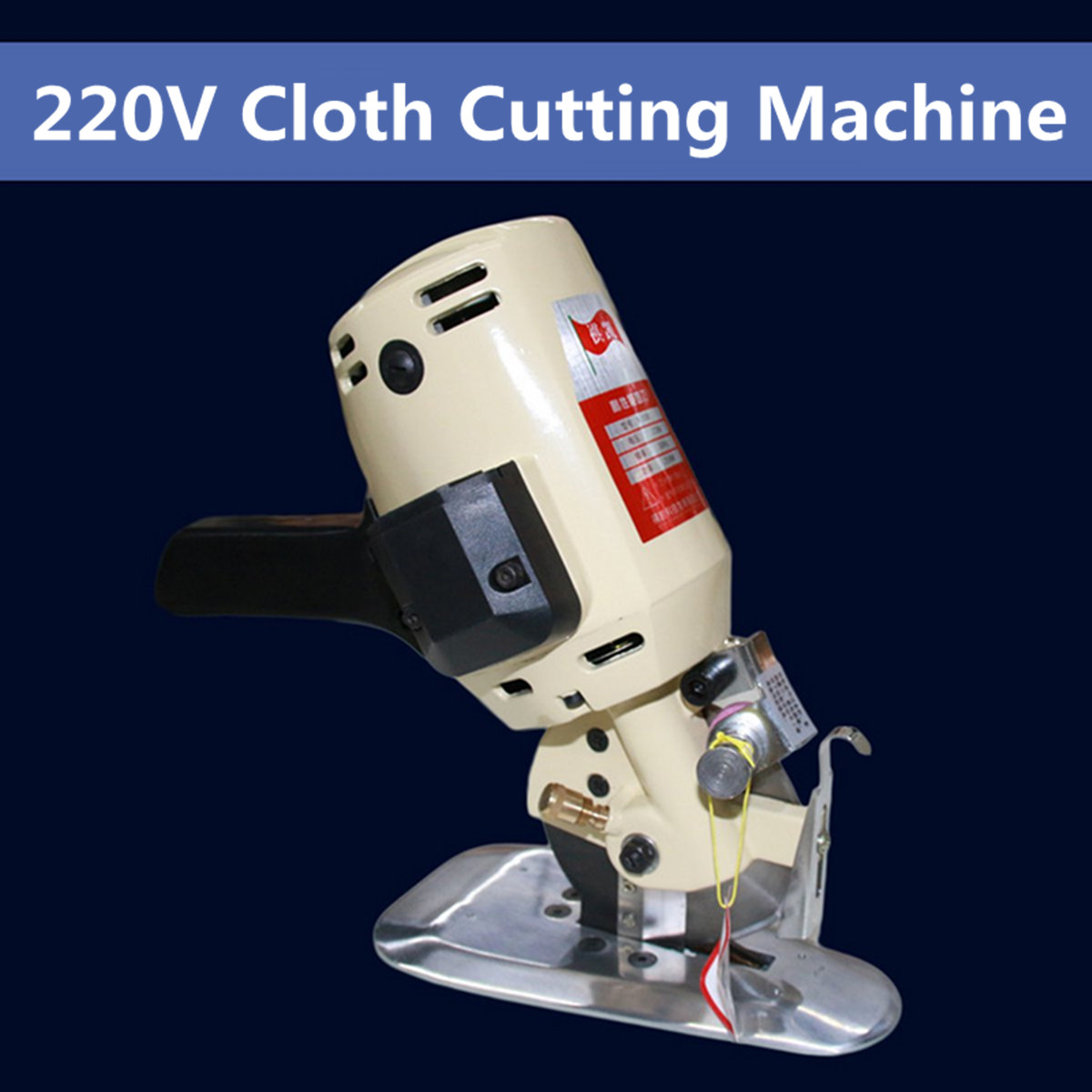 220V Electric Round Cutting Machine Circular Knife Electric Scissors Cloth Fabric Electric Cutter
