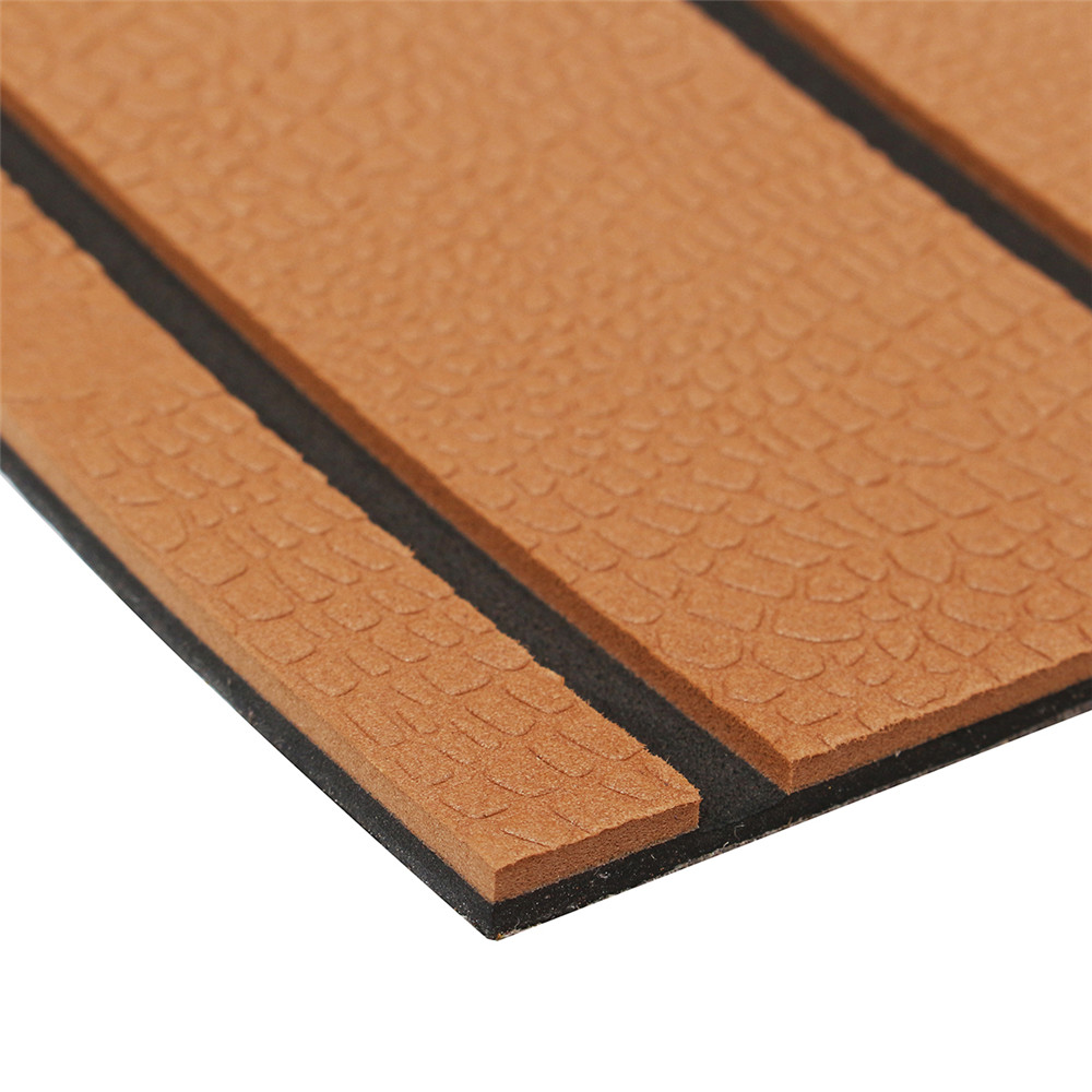 2400x900x6mm Brown Marine Flooring Faux Teak EVA Foam Boat Decking Sheet