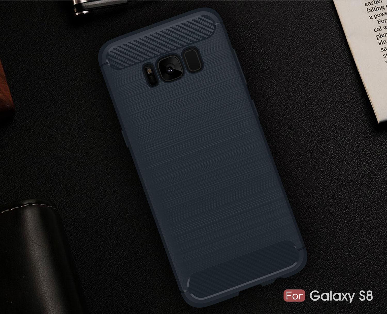 Bakeey TPU Carbon Fiber Texture Non-slip Case For Samsung Galaxy S8