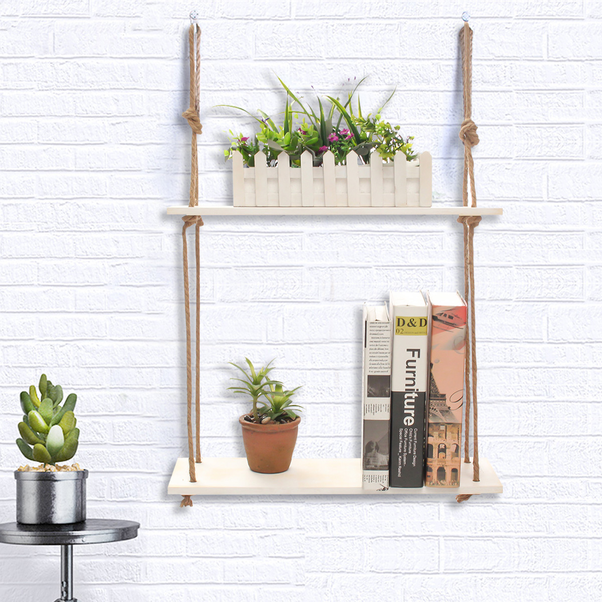 3 Tier Wood Wall Mount Shelf Stand Storage Book Shelves Display Rack Shelving Bracket Bathroom