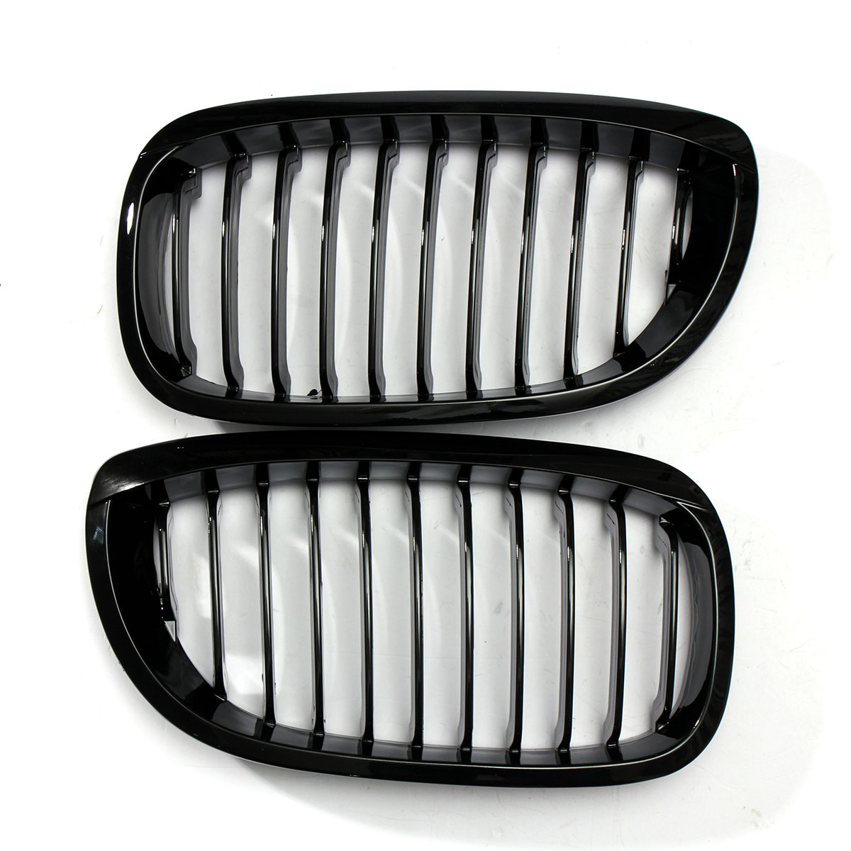 Gloss Black Front Sport Wide Car Grille For BMW E46 3 Series 2Dr 02-06