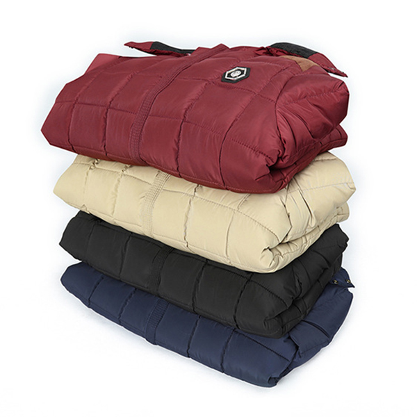 Winter Thick Warm Fleece Plaid Quilted Detachable Hooded Padded Jackets for Men