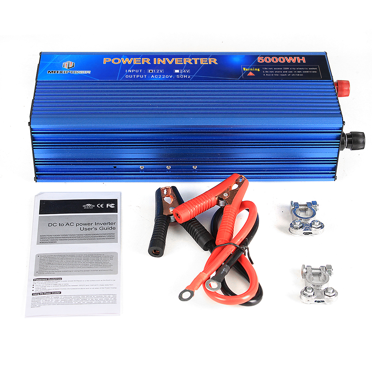 12V TO 220V Power Inverter Modified Sine Wave Power Converter 3000W/4000W/5000W Double Display