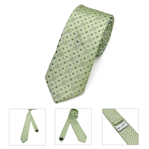 Pensee Mens Ties Business Dot Polyester Silk Skinny Jacquard Woven Solid Neckties