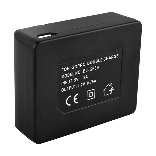 1250mAh Charger for Gopro Hero3 AHDBT 201 AHDBT-301 Dual Battery