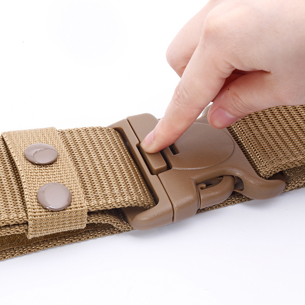130CM Men's Weaving Plate Buckle Military Army Tactical Belt