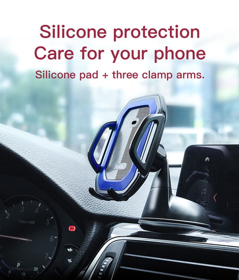 HOCO Infrared Induction Auto Lock Powerful Sticky Car Dashboard Holder for iPhone Mobile Phone
