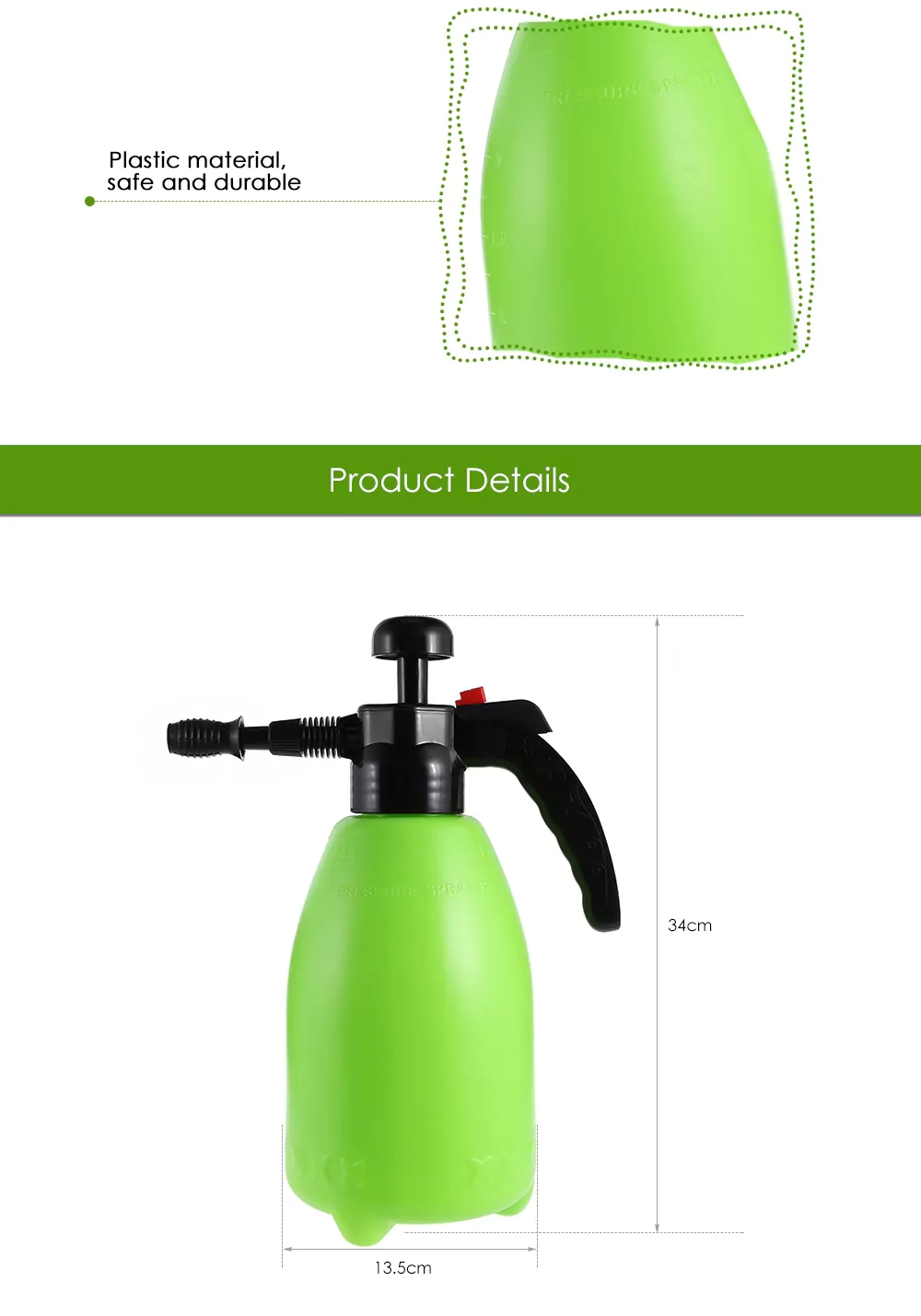 Gardening Atomizer Tool Sprinkle Watering Can, Green