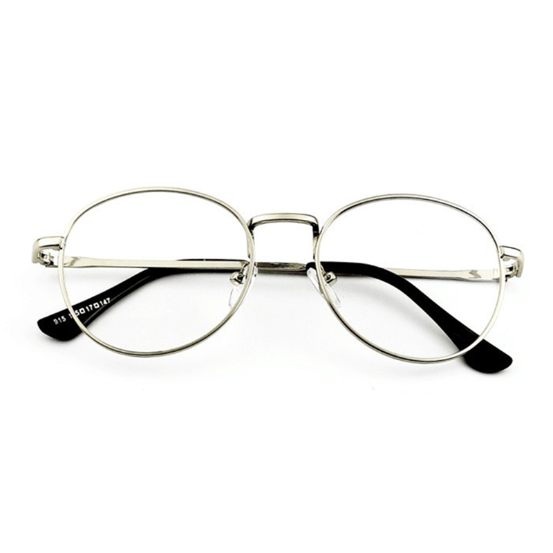 Mens Women Lightweight Round Frame Fake Glasses