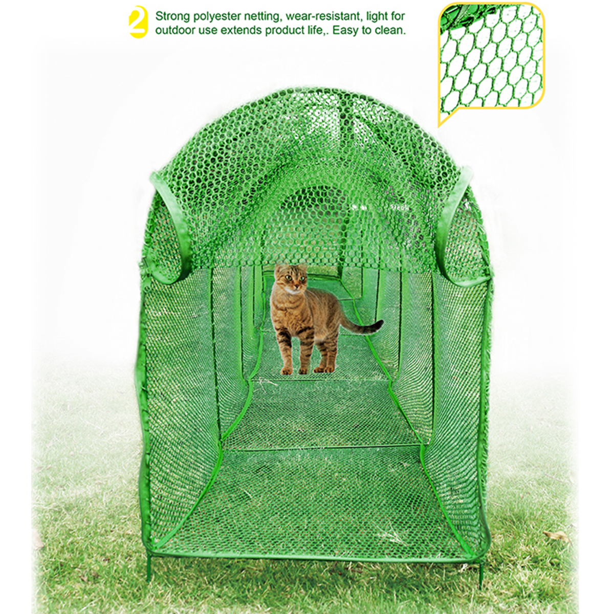 Deluxe Outdoor Foldable Pet Cat Walk Run Training Tunnel Easy Set Up Net Fence Outdoor Bag