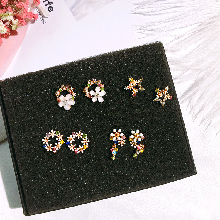 925 Sterling Silver Shell Flower Women Drop Earring Fashion