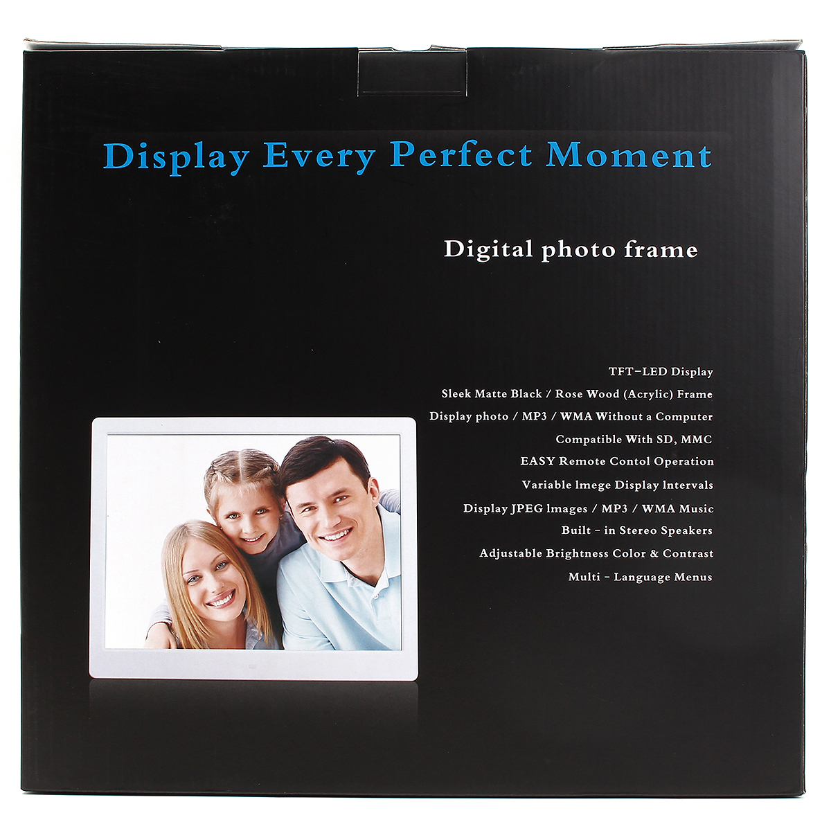 15 inch HD Digital Photo Frames Gallery Advertising Machine With 2G SD Card
