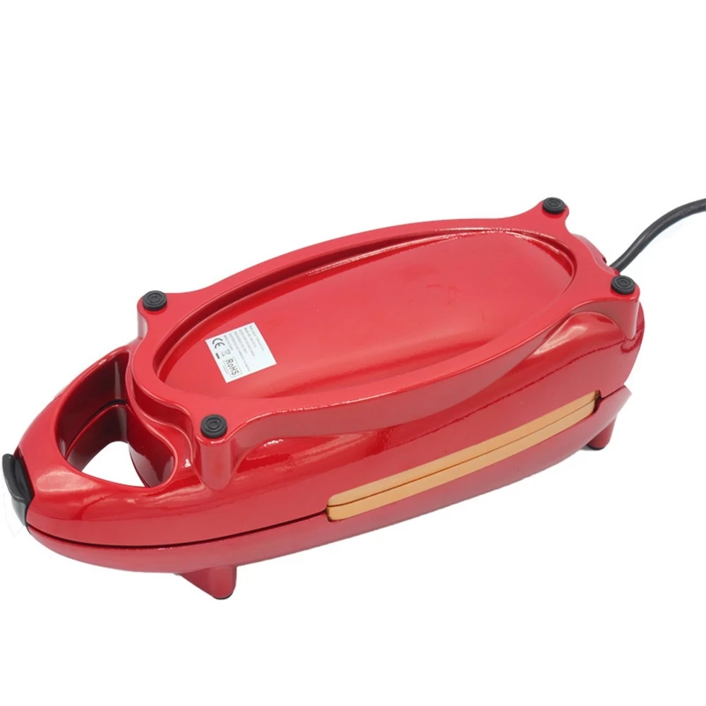 New Red Copper Pan Double-Coated 5 Minute Chef Non Stick Copper Cooker Frying Pan Omelet Machine EU Plug