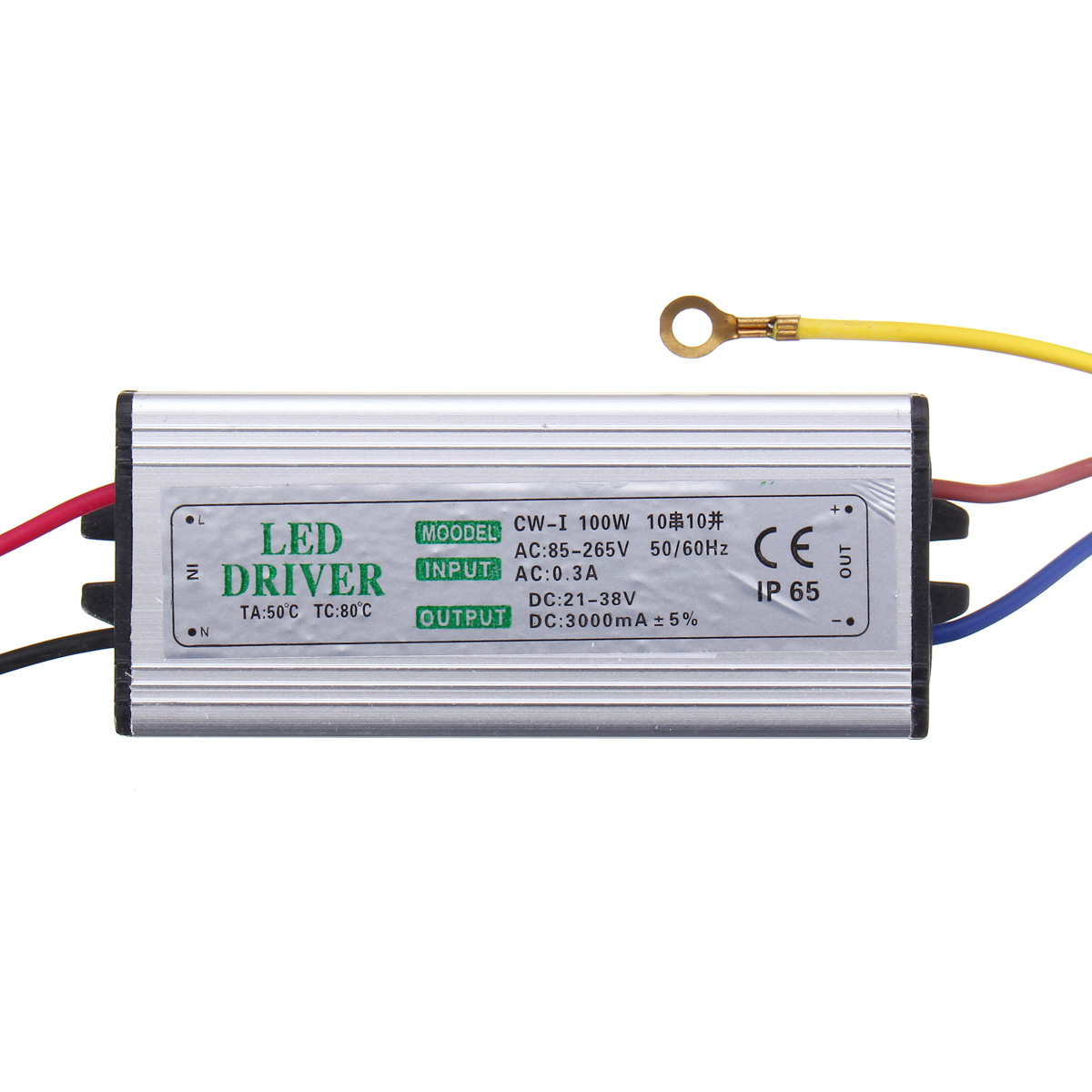 10W 20W 30W 50W 100W Waterproof High Power Supply LED Driver AC85-265V