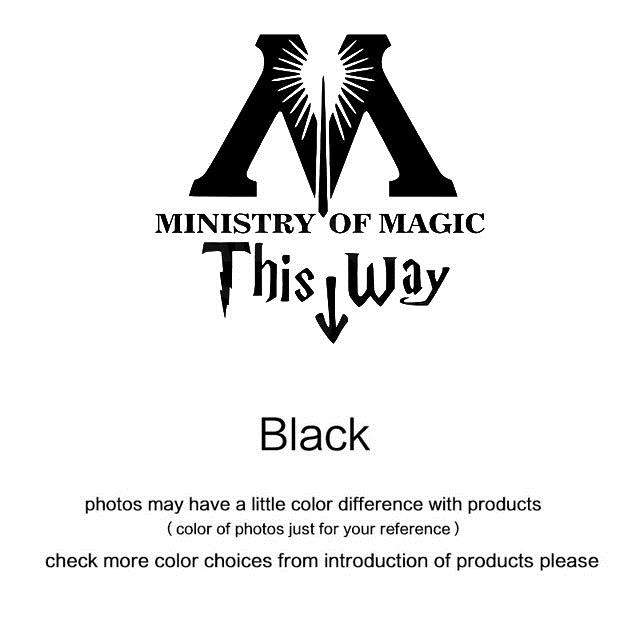 Ministry Of Magic Bathroom Wall sticker Home Decor Toilet Decal DIY Rest Room Wall Decals