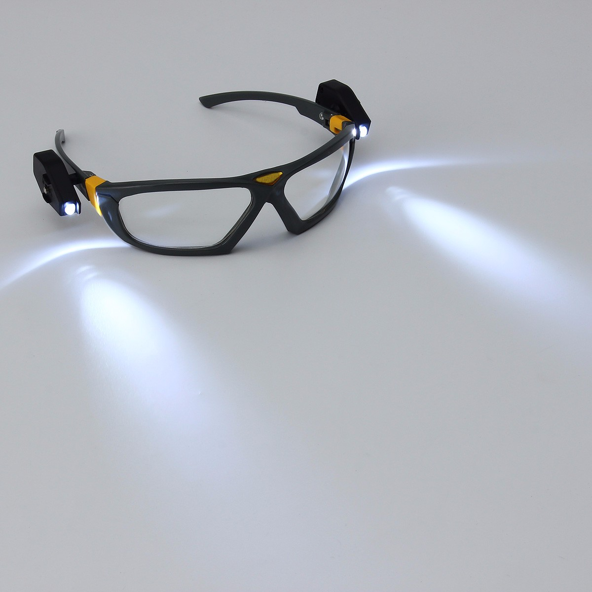 2-Light Night Lamp Eyeglass Camping Cycling Safety Reading Inspector Protective Glasses Goggles
