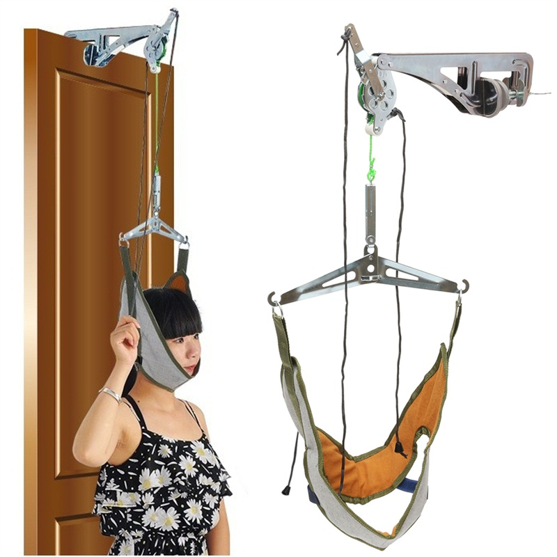 Cervical Traction Set Neck Support Head Pain Stress Relief