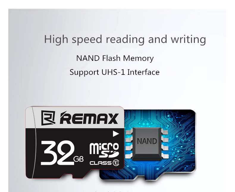 Remax Original 32GB High Speed TF Card Memory Card for Samsung Xiaomi Mobile Phone