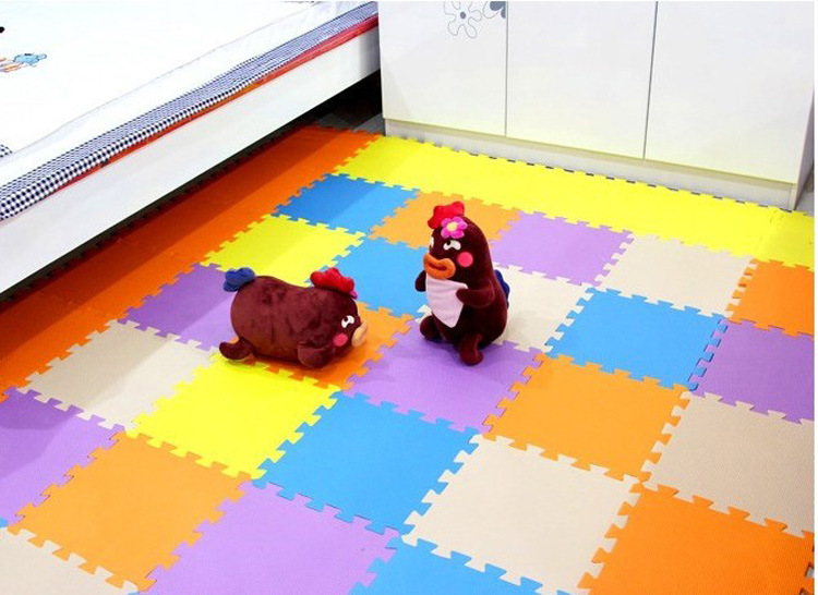 Vvcare BC-FM01 9-tile Solid EVA Foam Baby Playmat Kids Safety Exercise Floor Mat