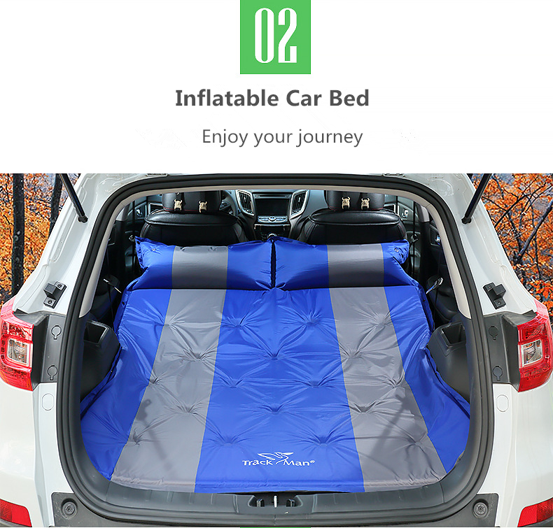Trackman TM2220 Outdoor 2 Person Camping Mat PVC Automatic Inflatable Air Mattresses 188x132x3cm