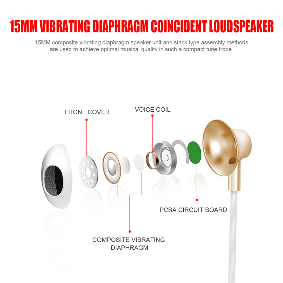 Bakeey™ VT-1 Shallow In-ear Waterproof Type-c Wired Control Bass Earphone With Mic
