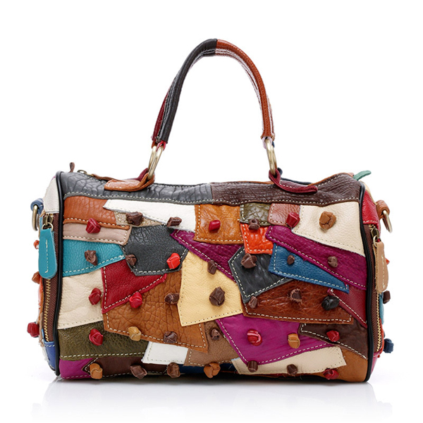 Details: Material Cowhide Color Colorful Weight About 1000g Length 29.5cm(11.61') Height 23cm(9.06') Width 12.5cm(4.92') Closure Zipper Package include: 1*Bag More Details: Disclaimer : About Size:Size may be 2cm/1 inch inaccuracy due to hand measure.Thes #handbag