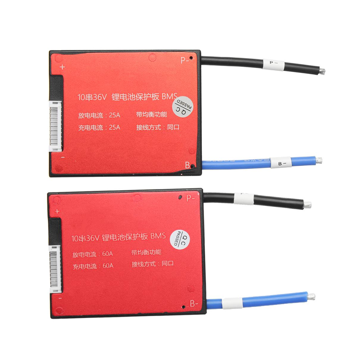 36V 10S Li-ion Lipolymer Battery 25A 60A BMS Battery Pr