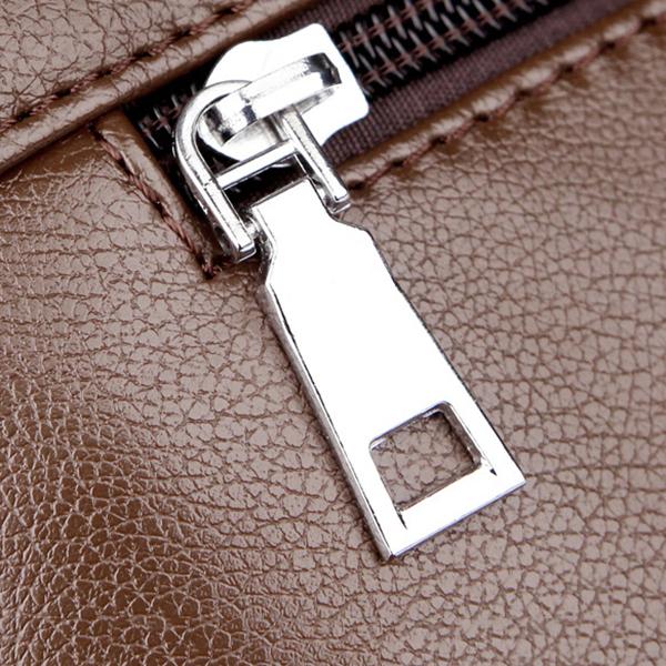 Men Soft PU Leather Business Shoulder Bag Casual Messenger Bag Office Bag