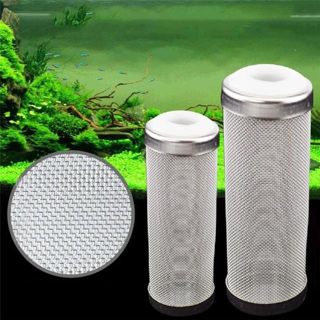 Image of Edelstahl-Filter-Einlass-Kasten-Garnelen-Netze stellten notwendiges spezielles / Aquarium-Garnelen-Zylinder-Filter ein