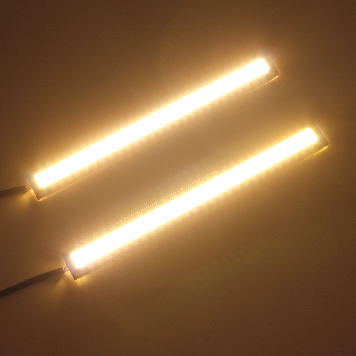 14cm COB LED Daytime Running Lights DRL Strip Lamp Waterproof 12V 8W 500LM 2PCS Universal