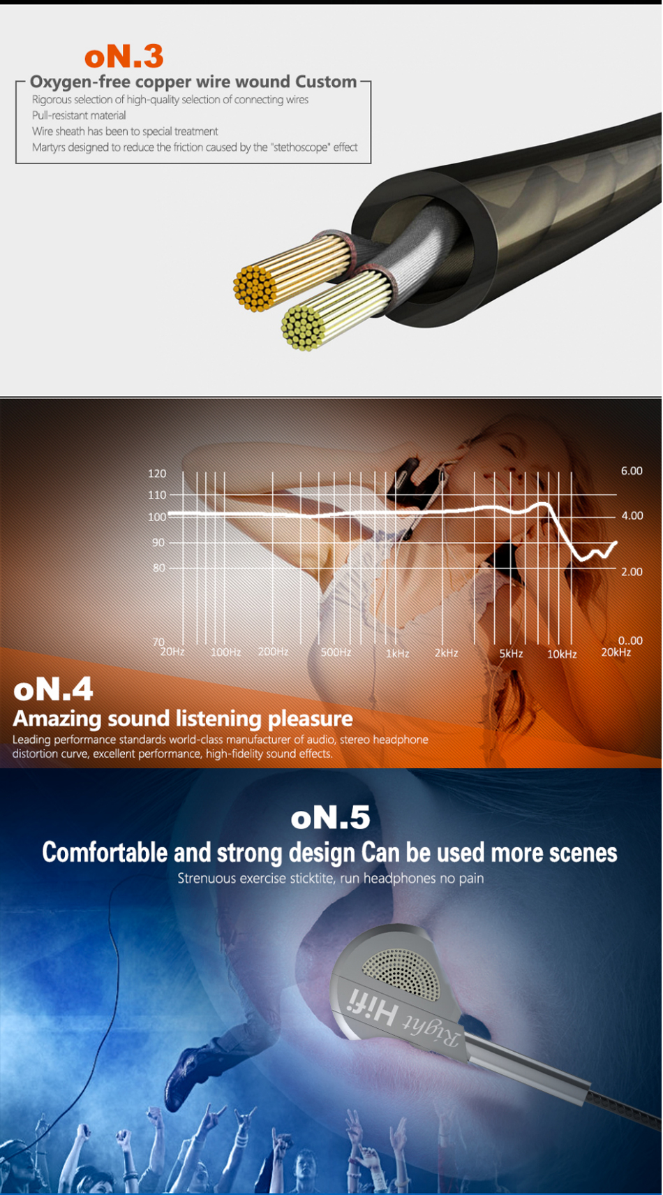 QKZ DM9 Zinc Alloy HiFi Earphone In Ear Earphones Headset Stereo BASS Metal DJ