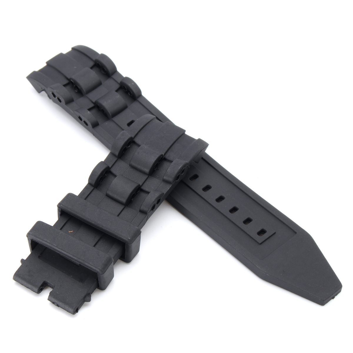 26mm Rubber Black Watch Band Strap For Invicta Pro Dive