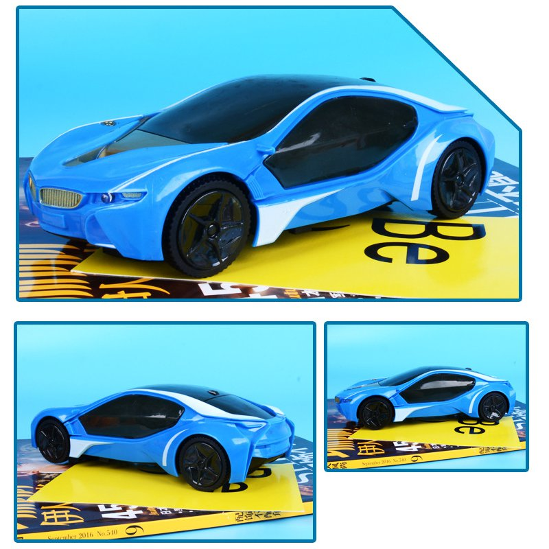Electric Car Plastic Model Flashing Music Light Emulation Sport Concept Car Toys For Children