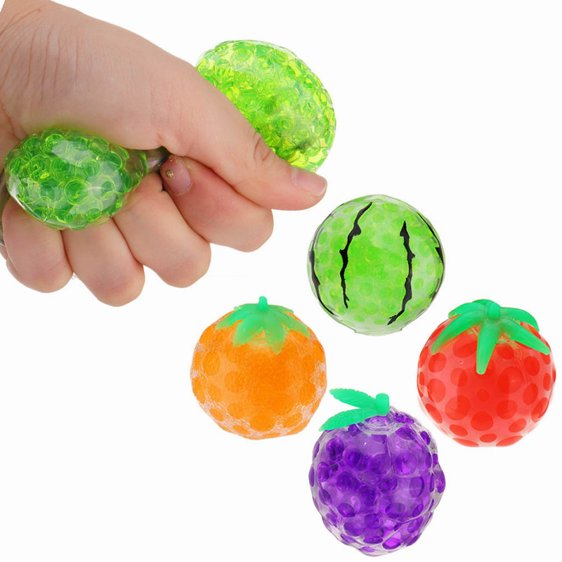 Squishy Fruit Stress Relief Toy Squeeze Stressball Party Bag Fun Gift Funny