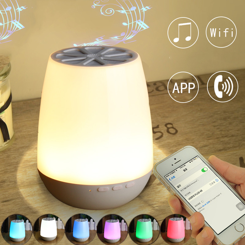 RGB Wireless bluetooth Speaker Stereo Colorful LED Light Lamp Music Player bluetooth Lamp