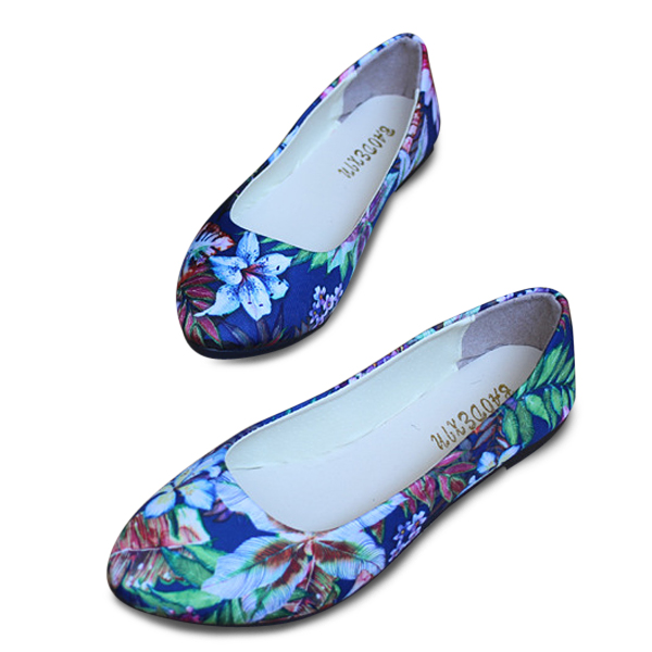 US Size 5-11 Women Flats Shoes Fashion Comfortable Flower Casual Pointed Toe Flat Loafers Shoes