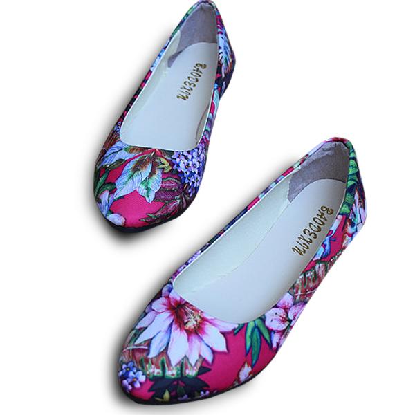 314c5a3ea3502 ... el tamaño 5-11 mujeres zapatos de los planos de manera cómoda en punta  del dedo del pie ocasional de la flor holgazanes de los zapatos planos con  envío ...