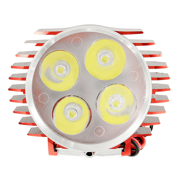 12-24V 3000lm 30W Motorcycle LED Headlight Waterproof Headlamp Universal Red Blue Gold Silver