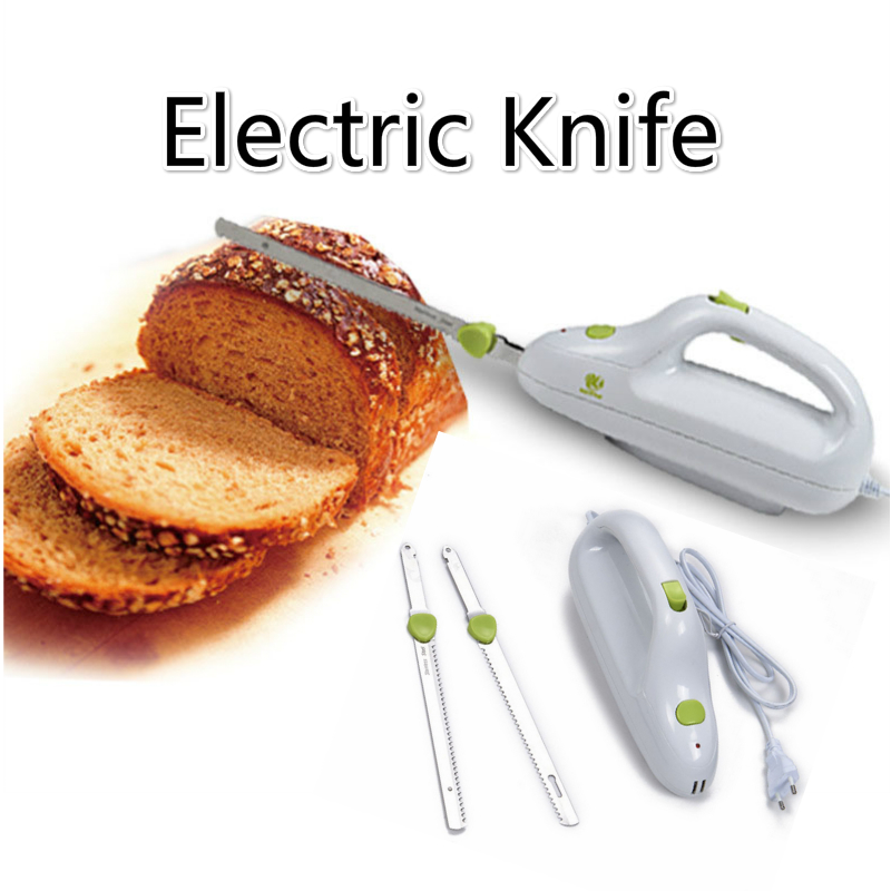 Kitchen Electric Bread Automatic Pizza Cutter Stainless Steel Blade Serrated