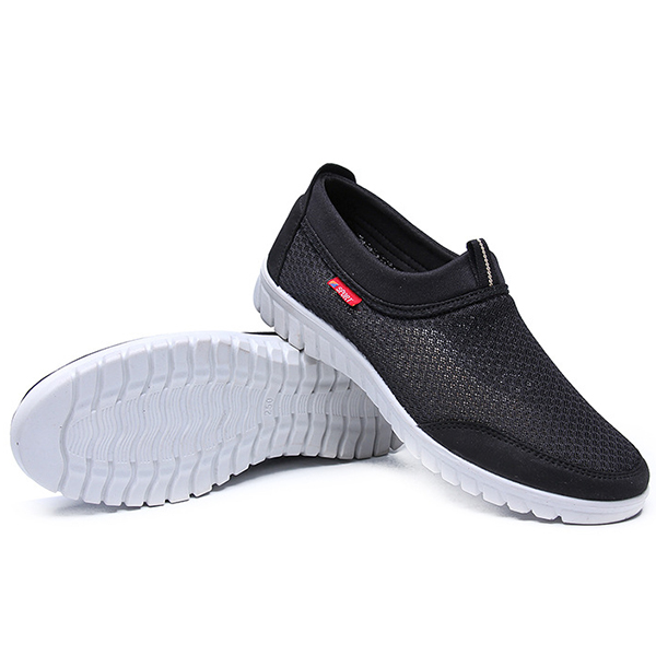 Men Lightweight Soft Breathable Mesh Slip On Sneakers