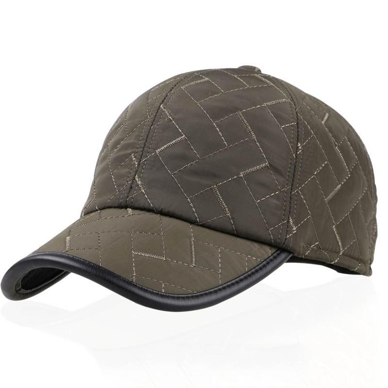 Men Male Earflap Earmuffs Waterproof Baseball Cap Adjustable Blank Golf Sport Outdooors Hat