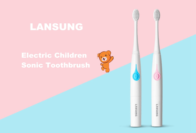 Lansung SA219 Electric Sonic Children Toothbrush AAA Battery