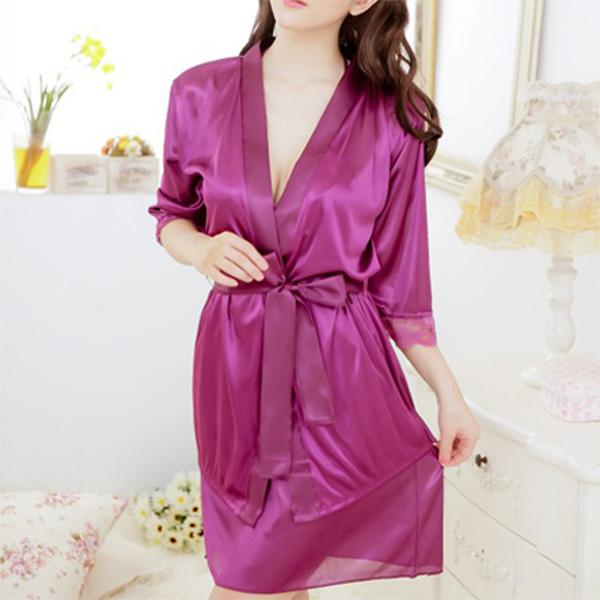 Sexy Women Lingerie Silk Satin Babydoll Dress Sleepwear Pajamas Sets