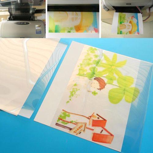 20Pcs 290x210mm Waterproof Inkjet Transparency Film Silk Screen Printing Sheets
